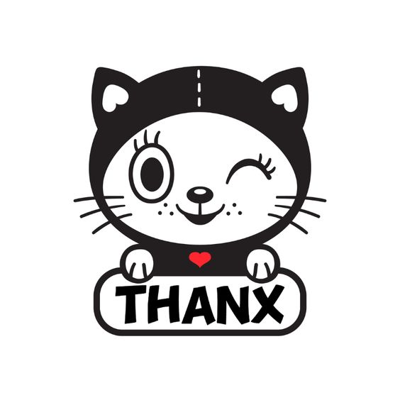 Bedankt kat  - TW, verkrijgbaar bij #kaartje2go voor âÂ'¬Â1,89