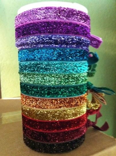 glitter hair ties! only $2