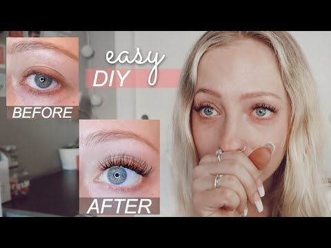 Diy Permanent Lash Extensions At Home Easy How To Do Individual Eyelash Extensions On Yo Lash Extensions Individual Eyelash Extensions Diy Eyelash Extensions