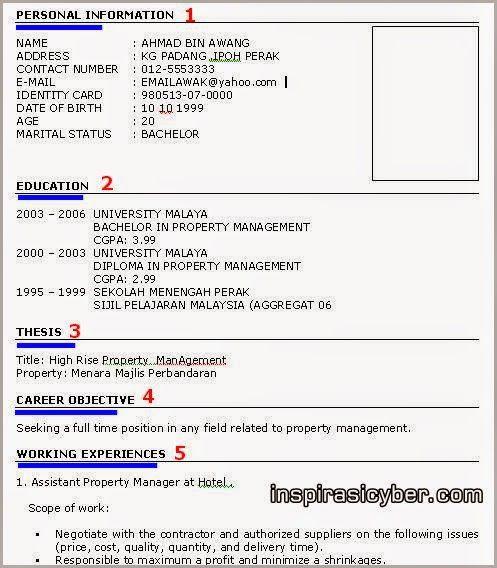 Format Resume Yang Betul Resume Templates Resume One Page Resume Template Resume Format Download