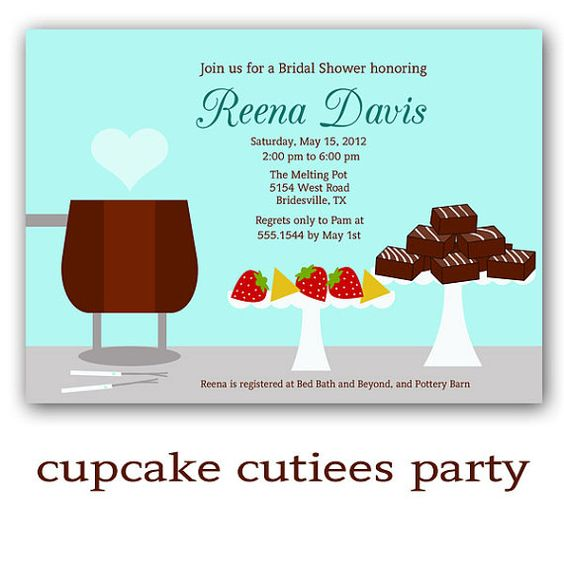 17 Best images about Convites – Fondue Party Invitation Wording