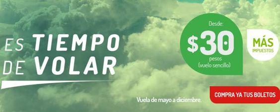 Vivaaerobus vuelos sencillos desde $30 pesos