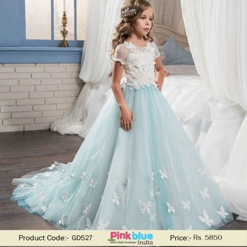 Girls Fancy Dress Pageant Sleeveless Tulle Birthday Party Lace Flower Girl Dresses