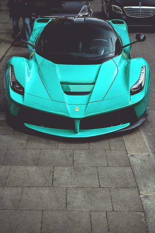 Turquoise Ferrari Sports Cars Luxury Fancy Cars Sport Cars