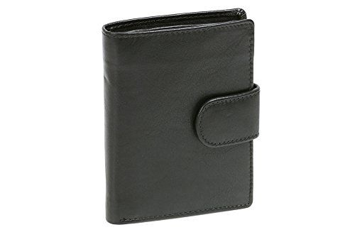 Bear Design Damen Geldbörse 14 Kartenfächer Portemonnaie Geldbeutel Leder black
