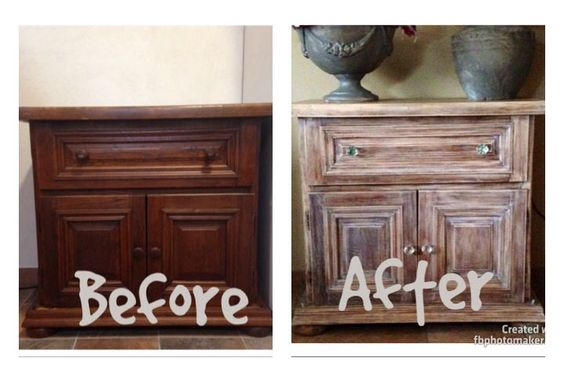 Liming Wax Over Dark Stain Furniture Finishes