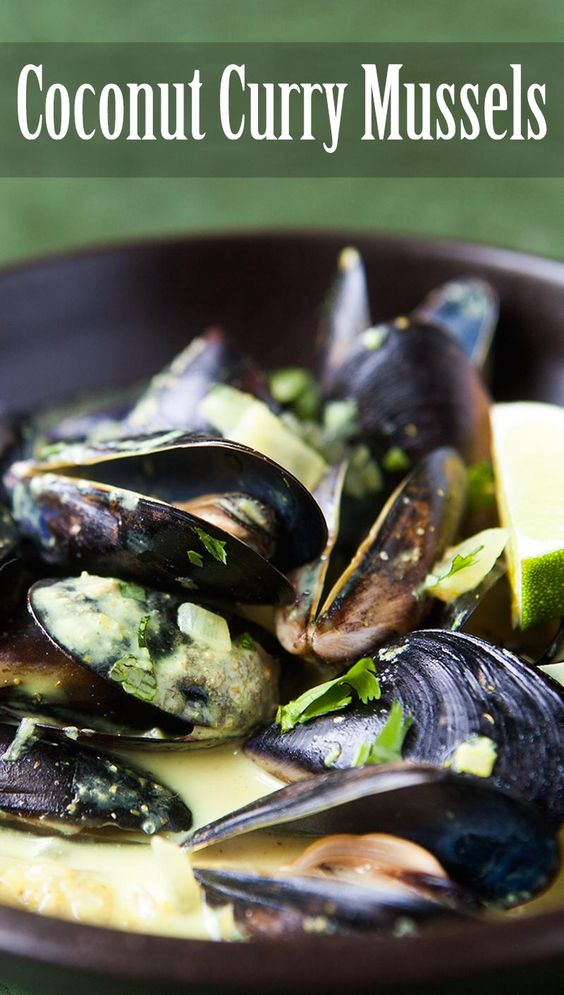 Coconut Curry Mussels ~ Looking for a mussels recipe with Wow factor ...
