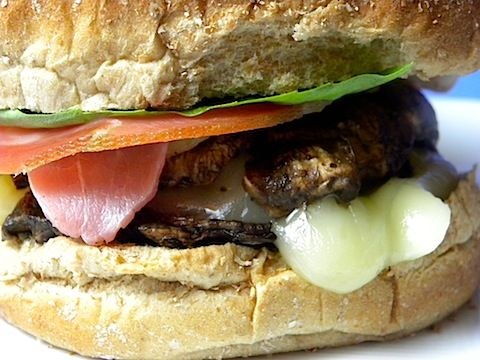 Portobello-Prosciutto Burgers!! Woah! I want to try these!