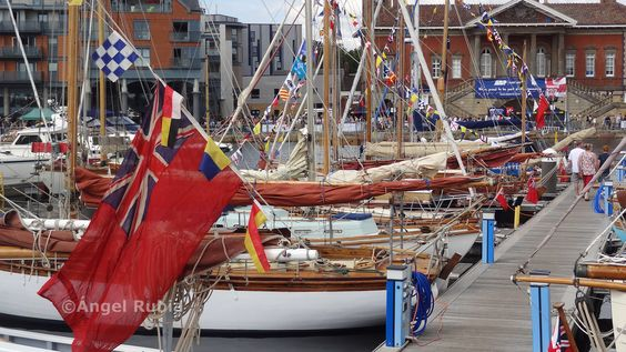 View from The Last Anchor of the Old Gaffers moored at Ipswich Waterfront for the Maritime Ipswich Festival 2015.