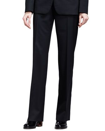 Stella McCartney Classic One-Button Jacket and Flat-Front Skinny Pants - Neiman Marcus