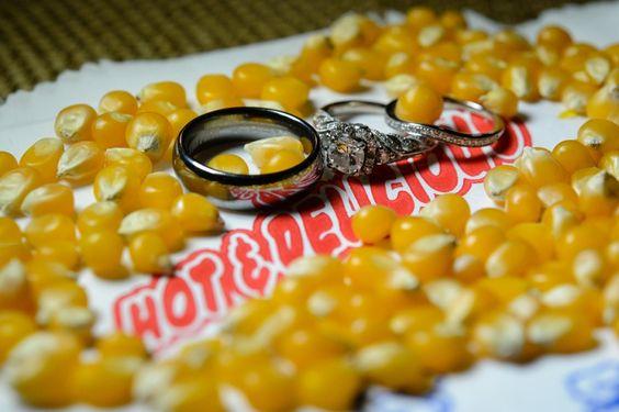 Hot & Delicious popcorn wedding ring detail macro close up at Megan & Brody – ArtSpace 111 Fort Worth Wedding Pictures » Dallas-Fort Worth Wedding Photographer