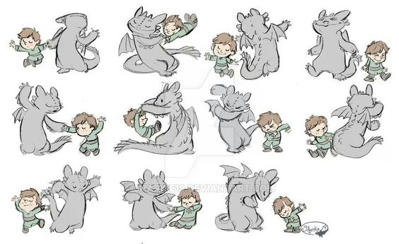 This is so CUTE! Dancing Hiccup and Toothless <3