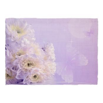 new at @Cafe Press : #White #Flower #Dinner #Placemats A white #bouquet of flowers with a bright #purple background and #butterflies!   $11.49