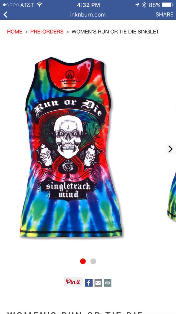 New spin on 2 classic singlets - run or die and tie dye! Love it!