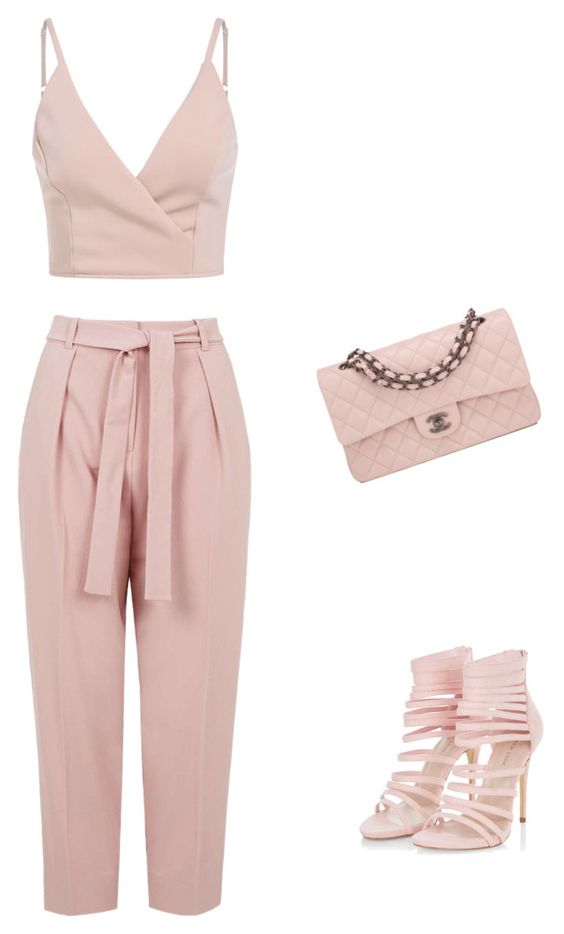 """Untitled #273"" by liakdn ❤ liked on Polyvore featuring Topshop and Chanel"