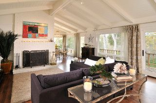 Carmel Valley - transitional - living room - other metro - by Holly Kauffmann