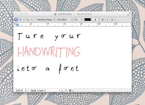 DIY: Macht eine Schriftart aus Eurer Handschrift   DaWanda Blog