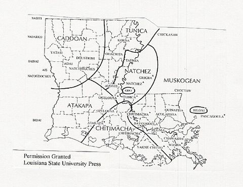Indian Tribes Louisiana And Louisiana Map On Pinterest