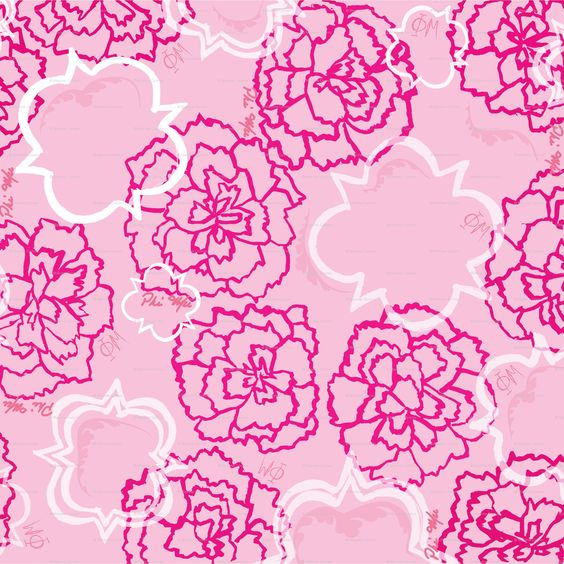 Carnations and Quatrefoil Fabric