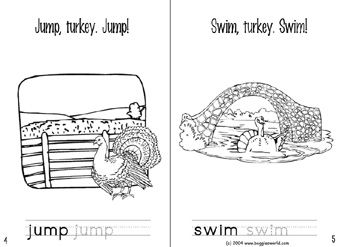 A super easy book for Thanksgiving.  The turkey has to hide from the farmer.  Free printable.