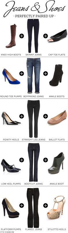 How-To pair up your Jeans and footwear. Jockey Person to Person jeans come in bootcut, straightleg, and ankle in black, white, and dark denim. http://www.myjockeyp2p.com/easygoingclothing