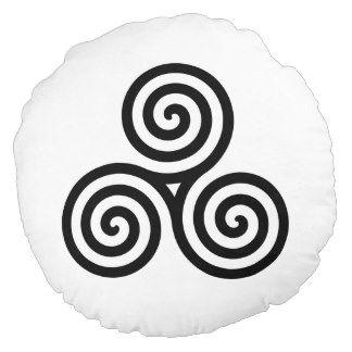 Drievoudige spiraal                                      symbool van eeuwig leven en verwijst naar de cyclus van leven, dood en wedergeboorte of de integratie van de 3 dimensies van tijd: verleden - heden - toekomst. Het staat eveneens voor de drievuldigheid van de maagd, de moeder en de vrouw en zo voor vrouwelijkheid en kracht.