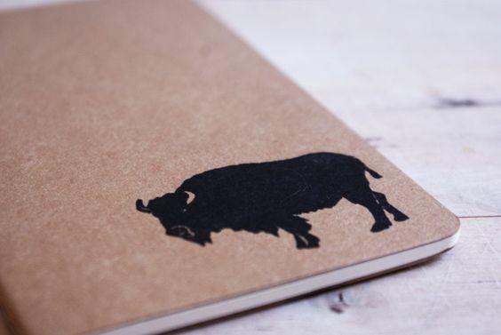 Buffalo Moleskine Journal Notebook