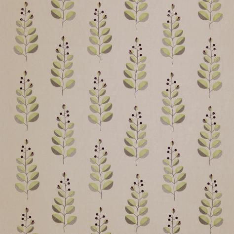 Harlequin Juniper Embroideries Fabrics Orletta Fabric - Green/Plum/Coffee - 8145