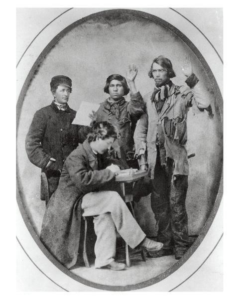 ca. 1861, [Swearing-In American Indian Civil War Recruits]
