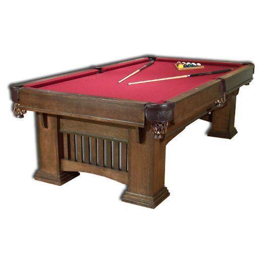Classic Mission Billiard Table In 2021 Billiards Billiard Table Game Room Furniture