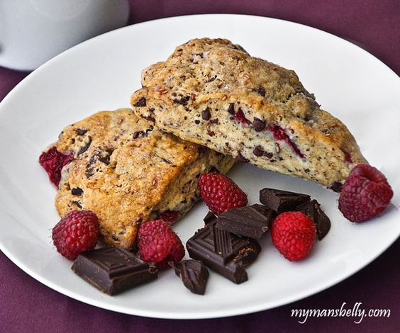 Fresh Raspberry Recipes: Chocolate Raspberry Scones: B Scones, Recipes Scones, Raspberry Scones, Recipe Scone, Chocolate Raspberry