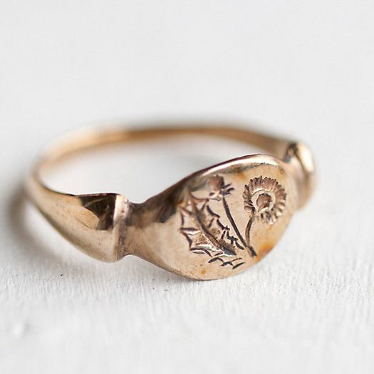 Bronze Dandelion Ring: