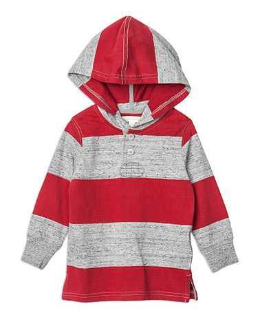Loving this Maple Red Stripe Hoodie - Infant, Toddler & Boys on #zulily! #zulilyfinds