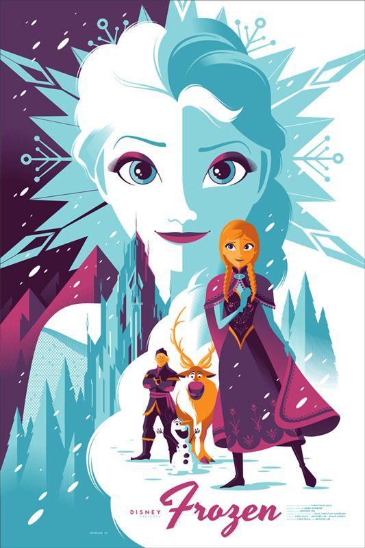 Mondo's Frozen poster art by Tom Whalen
