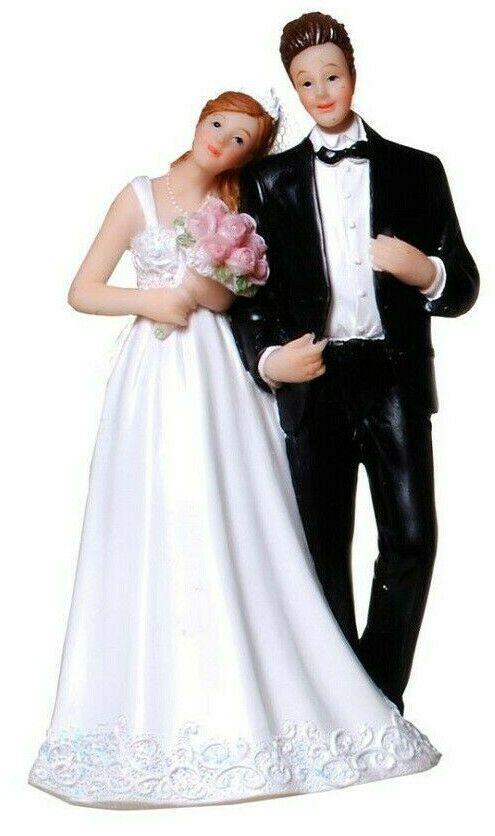 Dekofigur Hochzeit Figur Brautpaar Blumenstrauss Tortenfigur Geldgeschenk Weiss Brautpaar Hochzeit Goldene Hochzeit Deko