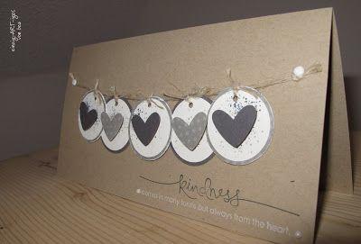 Süße Herzkarte