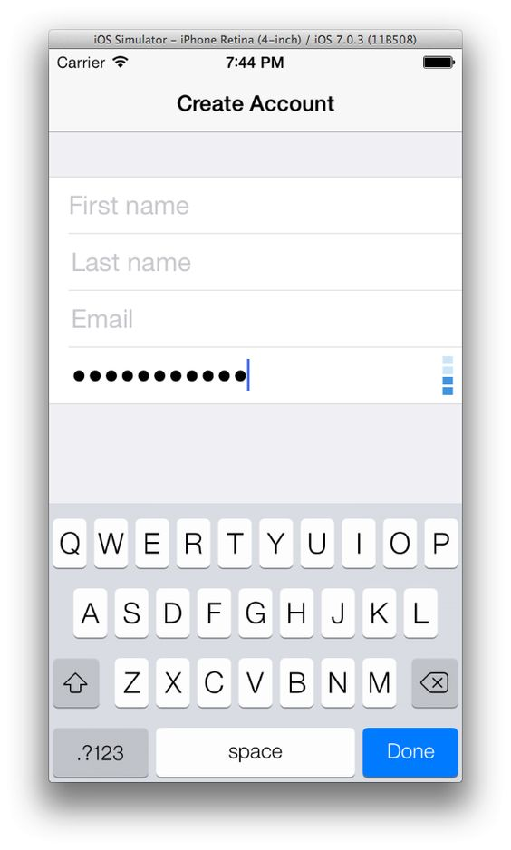 dropbox/zxcvbn-ios: A realistic password strength estimator.