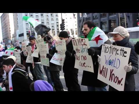 Flash Mob For Syria- Chicago l اعتصام مفاجئ لأجل سوريا - شيكاغو