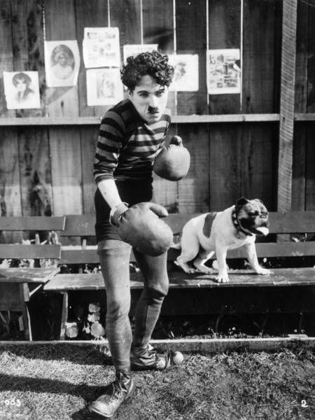 "Charlie Chaplin as Charlot Boxeur (""The Champion"" by Charlie Chaplin, 1915)"