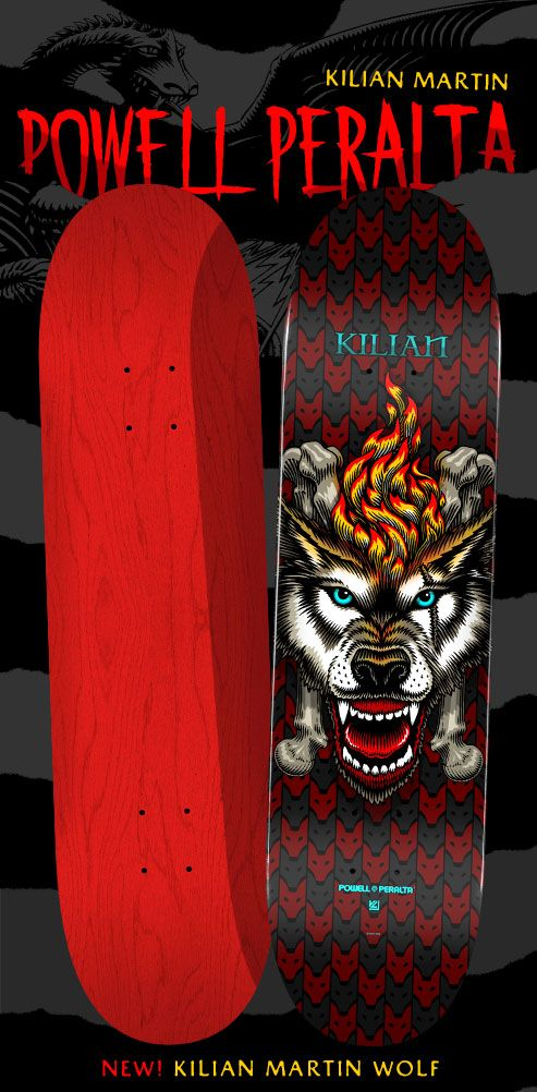 Powell Peralta Kilian Martin Wolf Skateboard Deck 8 X 31 45 Skateboard Peralta Powell Peralta