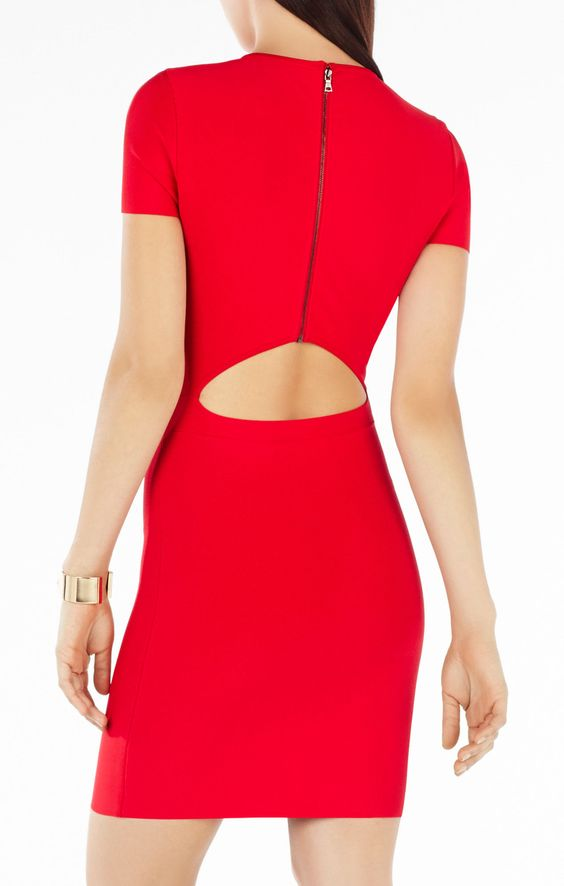 Kaylen Embellished Cutout-Back Dress