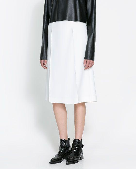 STUDIO SKIRT WITH SLIT - Skirts - Woman | ZARA United States