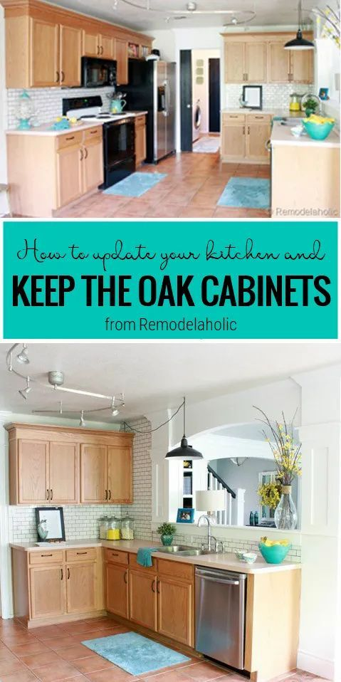 Great Ideas To Update Oak Kitchen Cabinets In 2020 Oak Kitchen Cabinets Stained Kitchen Cabinets Oak Kitchen Remodel