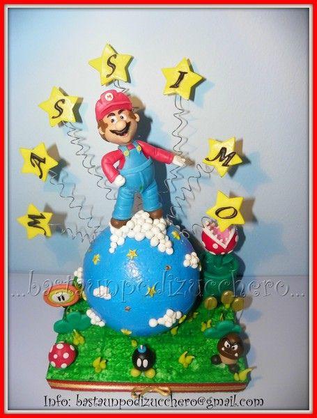 Mario Cake Topper by bastaunpodizucchero:
