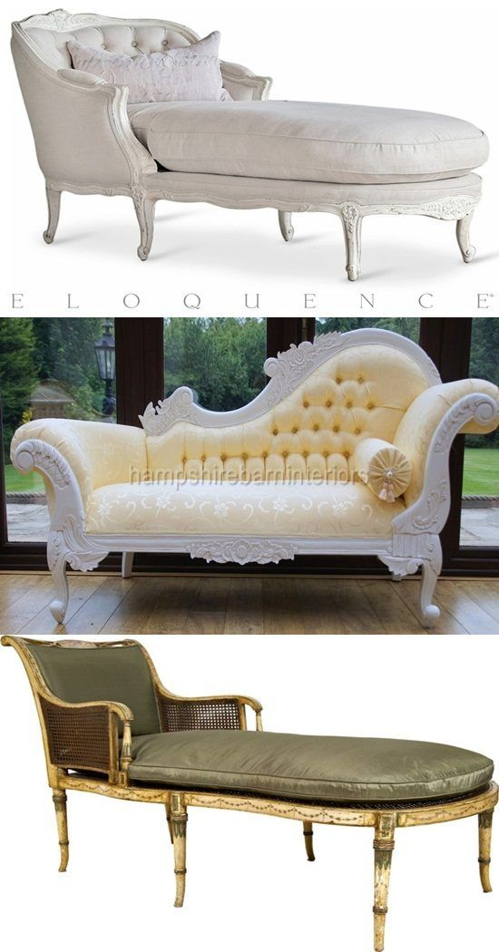French Provincial Shabby Chic Chaise Lounger BRAND NEW Sofa Couch Chair  White | For The Home | Pinterest | Sillones, Sillas Y Sala Luis Xv