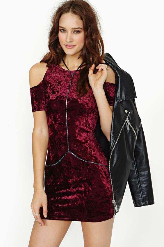 Motel Carey Velvet Dress: