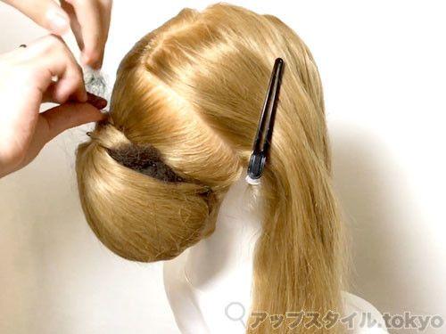 ヘアセット 和髪にも使える 簡単で早いシニヨンベースの作り方