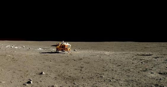China shows off pictures of the moon in full color