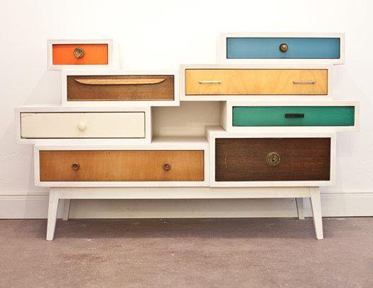 Franziska Wodicka conçoit du mobilier réalisé exclusivement avec d'anciens meubles.