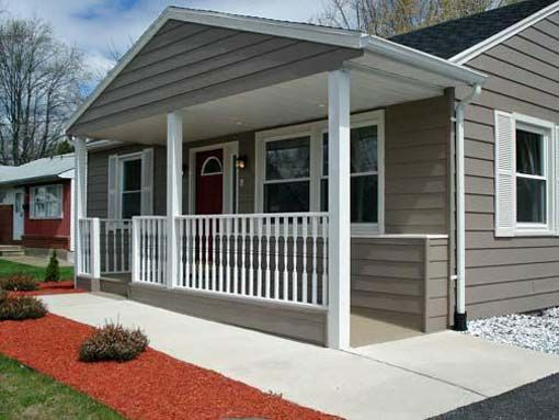 Small ranch style house with front porch designs this for Wheelchair homes